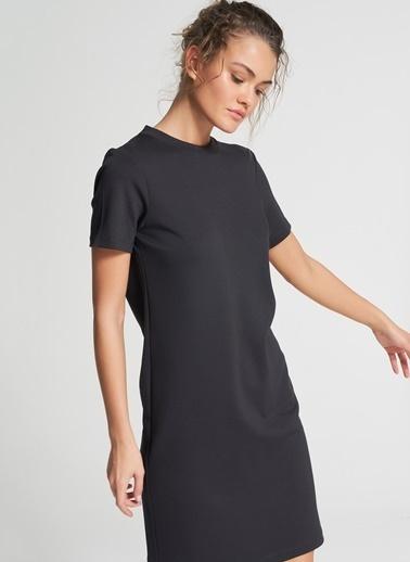 Pi π Sırtı V Yaka Elbise Siyah